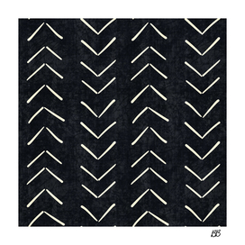 Mud Cloth Big Arrows in Black and White