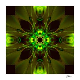 Kaleidoscope Neon Green