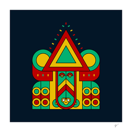 aztec geometric tribal