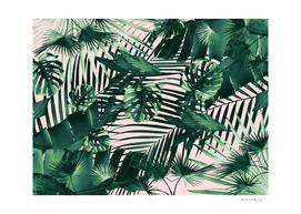Tropical Jungle Leaves Siesta #3 #tropical #decor #art