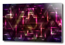 Glowing night purple triangles.