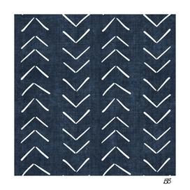 Mud Cloth Big Arrows in Navy