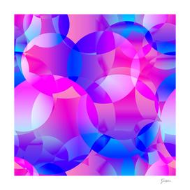 Violet and blue soap bubbles.