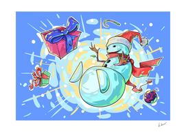Snow man. Happy new year!