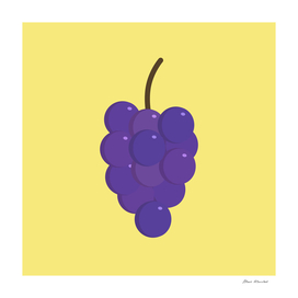Bunches of purple grapes icon in flat design