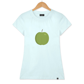 Green apple icon in flat design