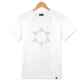 Dots pattern in star of david shape