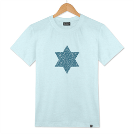 Star of david shape with dots pattern