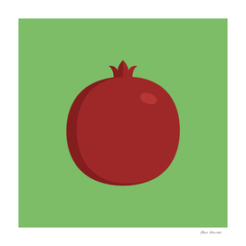 Pomegranate icon in flat design