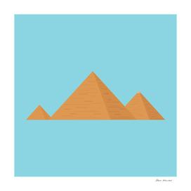 Pyramids flat design icon