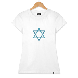 Star of david shape icon in flat design