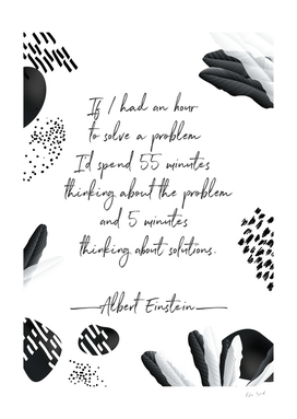 Albert Einstein Black and White Inspirational Quote