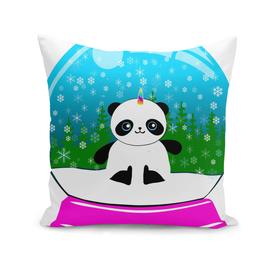 Xmas Pandacorn in a Snowglobe