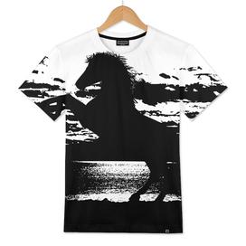 Mustang on moonlight