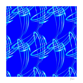 Sparkling pearl blue ice monograms on a blue background.