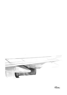 Black and White Airplane