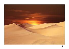 desert sun landscape sunset dune
