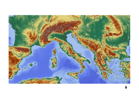 Italy alpine alpine region map