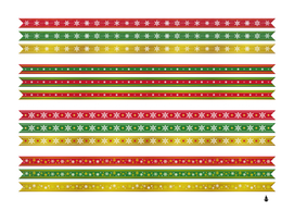 Christmas ribbons christmas gold