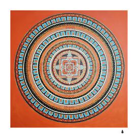mandala art painting acrylic