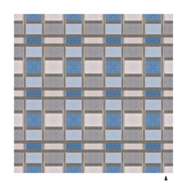 abstract seamless fabric blue