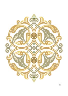Brabesque ornament islamic art stencil drawing
