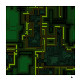 A completely seamless background design circuit board