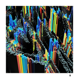 Abstract 3d blender colorful