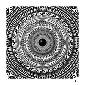 Graphic design round geometric