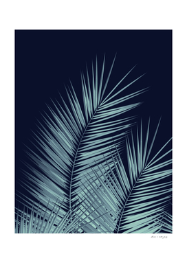 Navy Blue Palm Leaves Dream - Cali Summer Vibes #1 #tropical