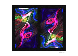 Fluid Abstract Framed
