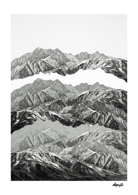 mountain mashup monochrome