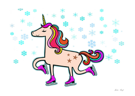 Proud Xmas Unicorn in the Snow