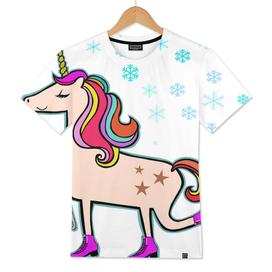 Proud Xmas Unicorn in the Snow