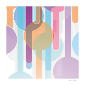 Abstract pattern with colorful circles