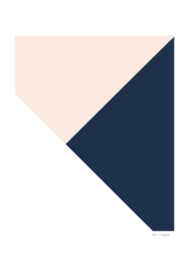 Blush meets Navy Blue & White Geometric #1 #minimal #decor