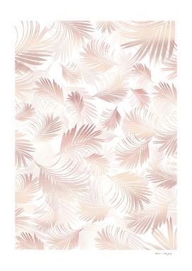 Tropical Rose Gold Palms Pattern #1 #tropical #decor #art