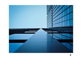 Architecture modern building facade
