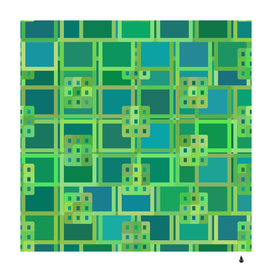 Green abstract geometric