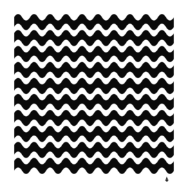 Wave pattern wavy halftone