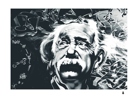 Albert einstein street art