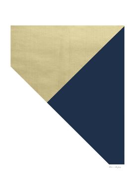 Gold meets Navy Blue & White Geometric #1 #minimal #decor