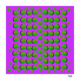 The happy eyes of freedom in polka dot cartoon pop art