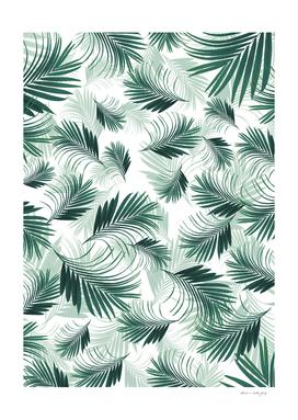 Tropical Green Palms Pattern #1 #tropical #decor #art