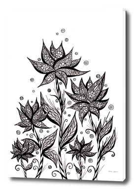 Abstract Flower Lineart