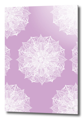 White and Purple Mandala Pattern