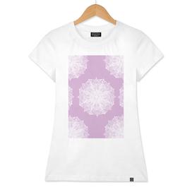 White and Purple Mandala Pattern