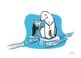 Polar Bear &  Penguin Got Ice