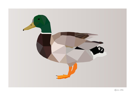 DUCK LOW POLY ART