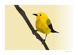 Prothonotary Warbler LOW POLY ART